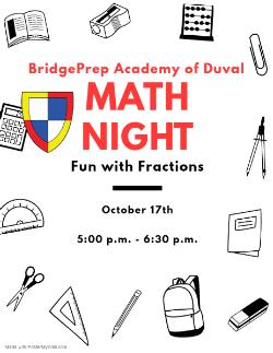 Math Night Reminder